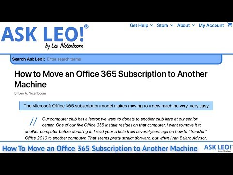 How To Move An Office 365 Subscription To Another Machine