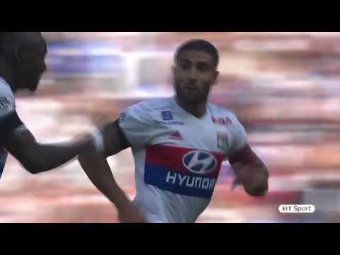 Nabil Fekir scores an incredible goal for Lyon from the halfway line