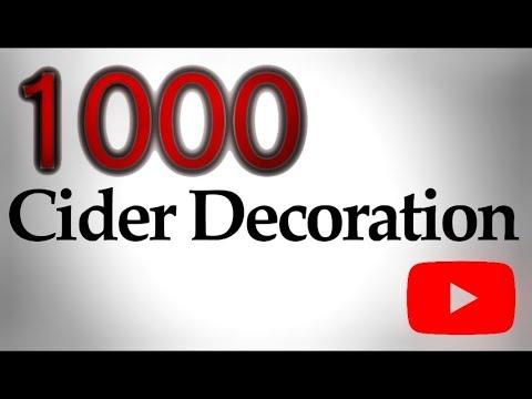 1000   Merci   TOURNAGE Sur BOIS Cider Decoration