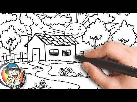 Como Desenhar Uma Casa No Campo Muito Fácil How To Draw A House In The Very Easy Field