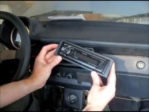 vw 73 super beetle 1 din radio install - YouTube