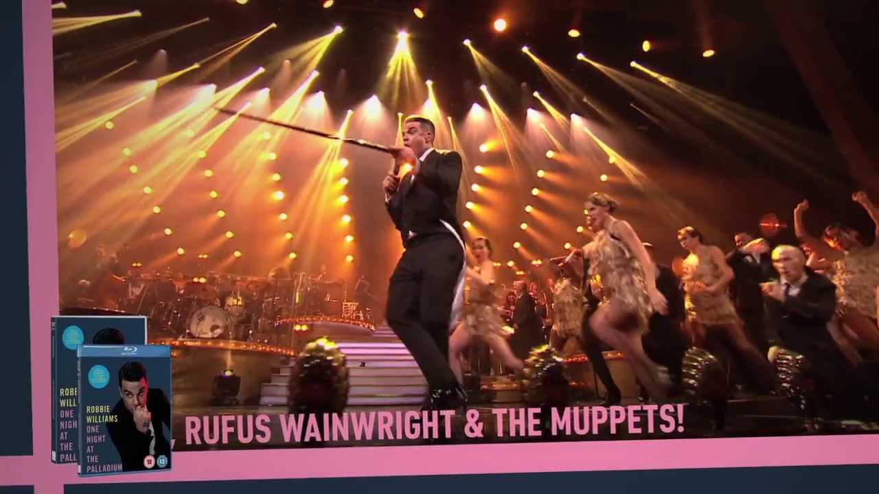 lisää valokuvia viralliset valokuvat huippumuoti Robbie Williams One Night at the Palladium DVD & Blu-ray trailer
