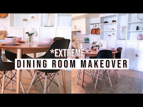 EXTREME! Small Apartment Dinning Room Makeover + Tour