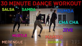 Easy To Follow 30 Minute Dance Workout View From The Back (Salsa, Bachata, Merengue, Mambo And More)
