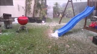 Unwetter & Extremer Hagelschlag in Fernitz bei Graz/AUSTRIA (SUPERZELLE)