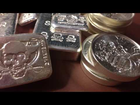 Samsung Galaxy Droid HD Fly Over of My Poured Pirate Silver Coins and Collection