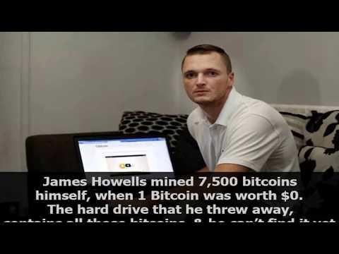 James Howells mined 7,500 bitcoins when 1 Bitcoin was worth $0