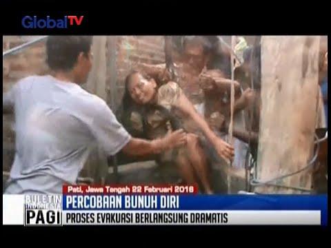 Detik-detik menegangkan evakuasi wanita yang coba bunuh diri terjun ke sumur 25 meter - BIP 23/02
