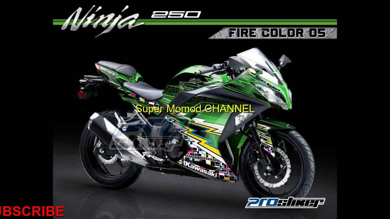 Modifikasi modif ninja 250 fi hijau keren