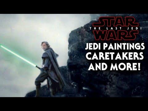 Star Wars The Last Jedi - Ancient Jedi Paintings, Caretakers & More! (NEW)