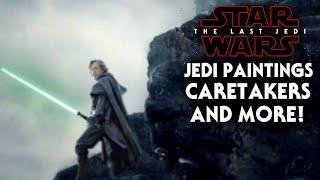 Star Wars The Last Jedi - Ancient Jedi Paintings, Caretakers & More! (NEW)