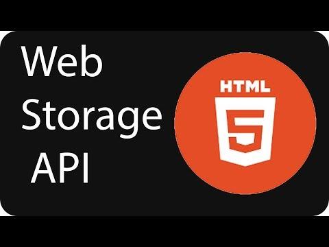 HTML 5 Web Storage Api Tutorial