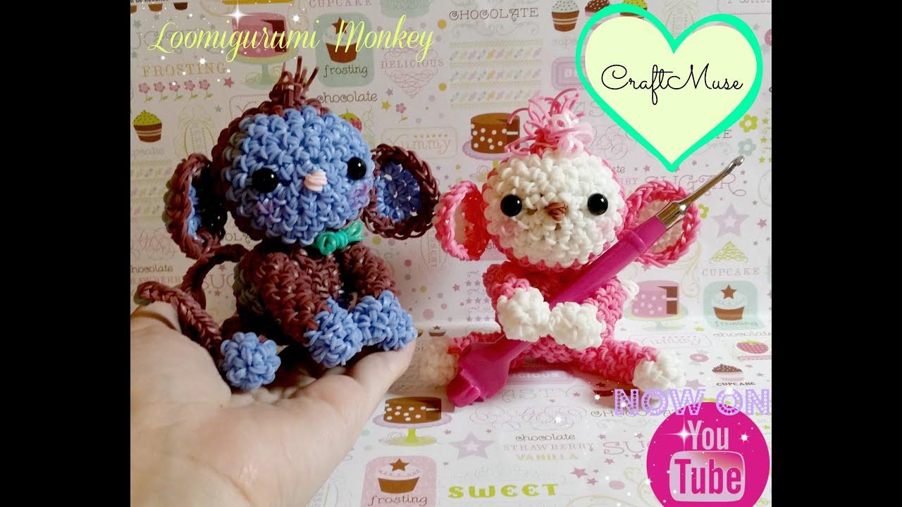 Rainbow Loom Loomigurumi Monkey Youtube