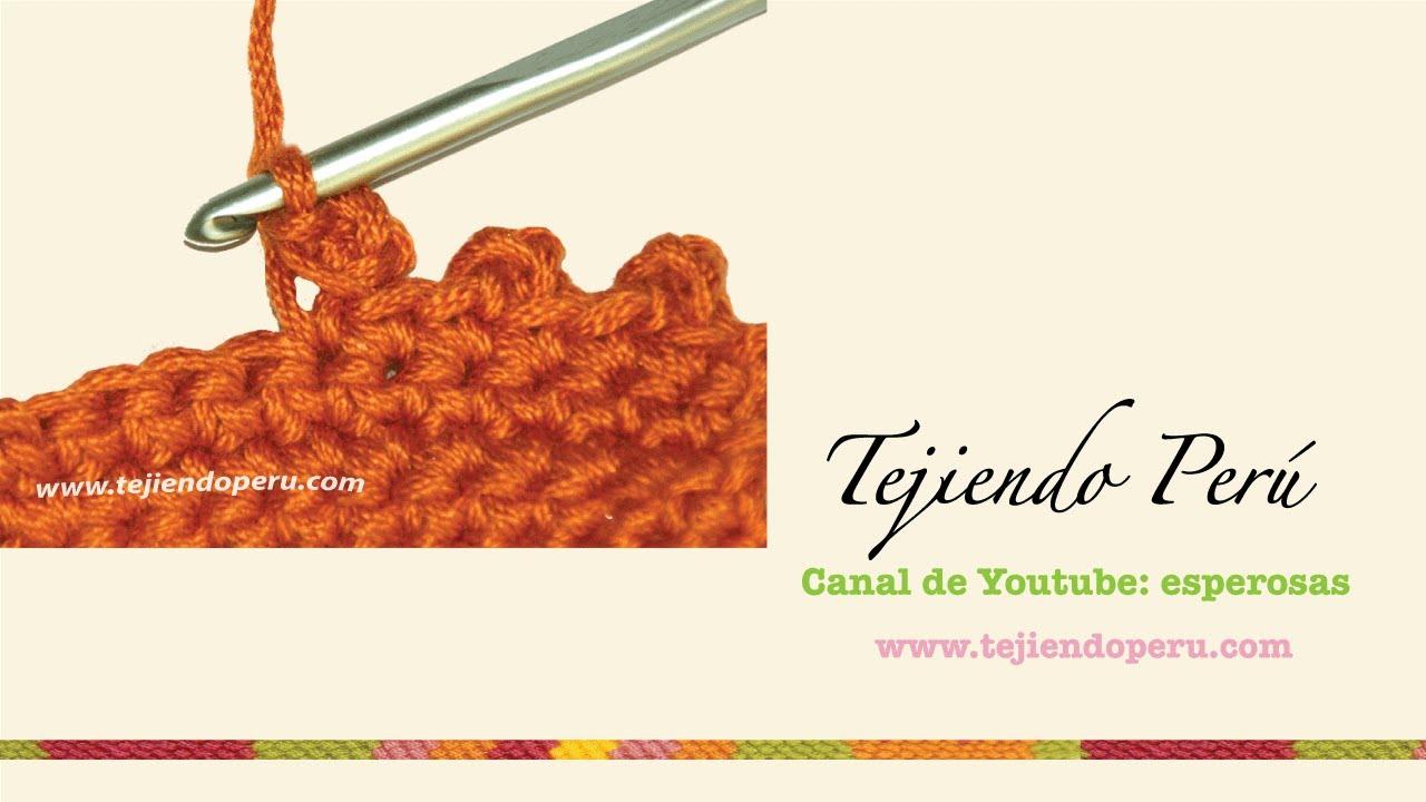 Crochet: cómo tejer el punto picot o piquito cerrado - YouTube