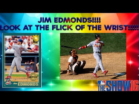 MLB The Show 16 Diamond Dynasty | Jim Edmonds! Look at the Flick of the Wrist....