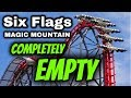 Six Flags Magic Mountain Vlog COMPLETELY EMPTY
