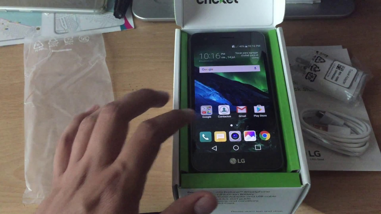 Lg Fortune M153 Cricket Unboxing y Mini Review en Español