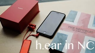 unboxing the sony h ear in nc in red mdr ex750an noise cancelling iphone compatible