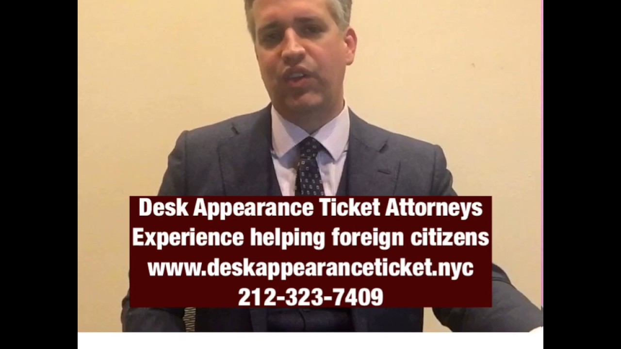 Desk Appearance Tickets For Non Citizens