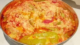 Լոլիկով կամ (պոմիդորով) ձվածեղ ։ Армянская Яичница с помидорами. (Omelette with tomatoes)