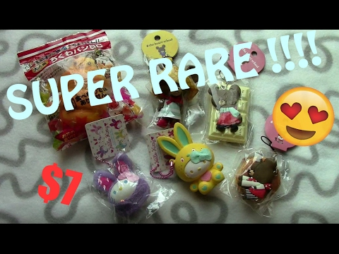 SUPER CHEAP!!! Rare squishy package + birthday haul