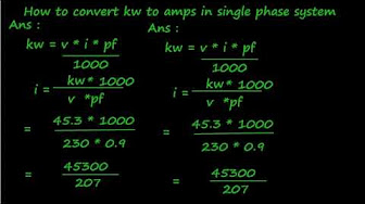 Electrical Formulas Kva Kw Kwh Volt Ampere Hp