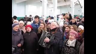 10.12.2016 Песенный флешмоб в Краснодоне
