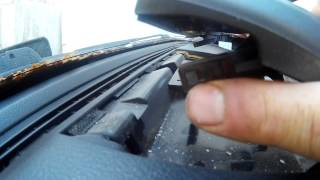 Как снять переднюю панель и достать магнитофон  на санг ёнг рекстон 2