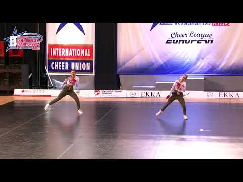 127 JUNIOR DOUBLE CHEER HIP HOP Pavlev   Strnad ŠK MAREDI SLOVENIA
