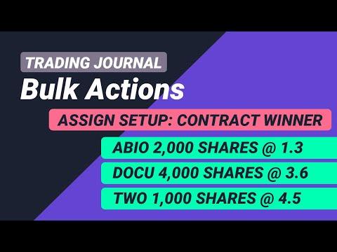 Bulk Actions - Delete, Change Portfolio, Tag Trades