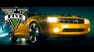GTA V Transformers - Bumblebees New Camaro (GTA V PS4 Remake)