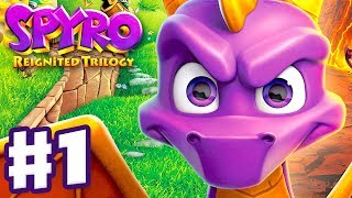 Spyro Reignited Trilogy - Spyro The Dragon - Gameplay Walkthrough Part 1 - Artisans (120%)
