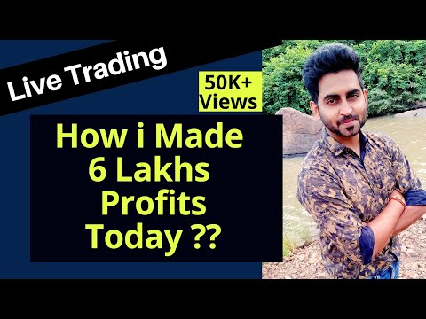 Live Trading 6 Lakhs Profits In Nifty & Banknifty Options ,Never Seen Before Trading Strategies