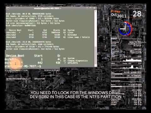 windows ntfs fix using linux / ubuntu