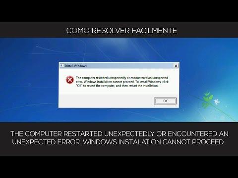 RESOLVER Windows installation cannot proceed / Instalação do Windows não pode continuar  FACILMENTE