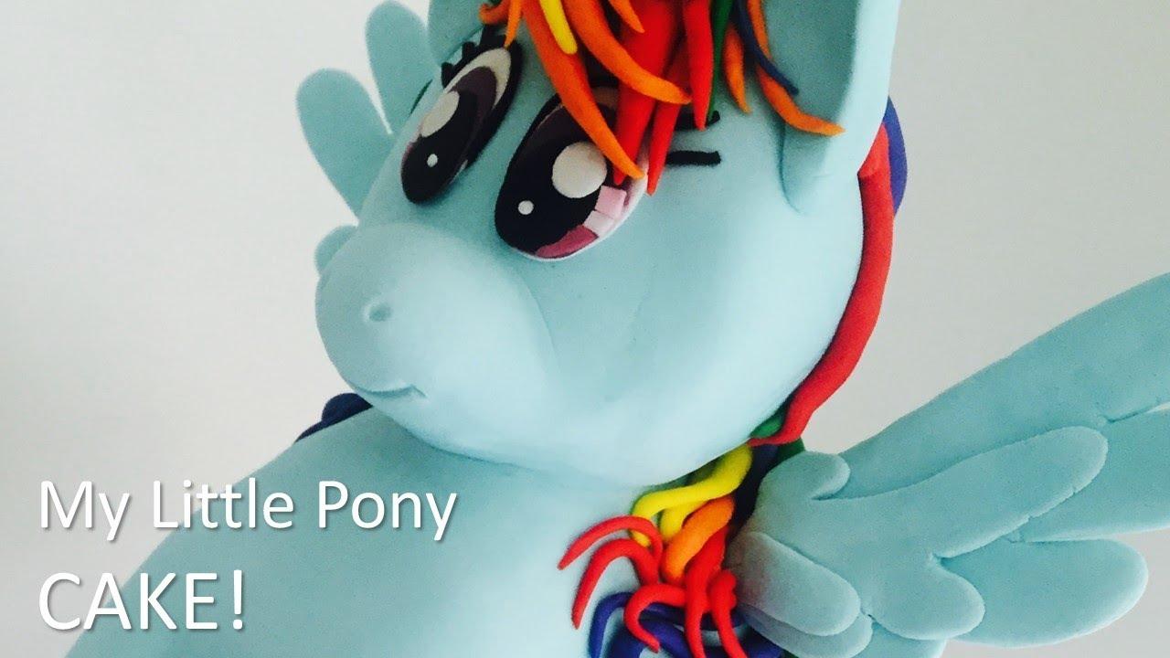 The Best My Little Pony Rainbow Dash Cake Youtube