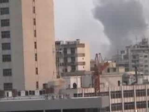 Israeli bombs on Beirut