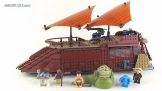 Lego Star Wars Jabba's Sail Barge 75020 Set Review! (2013 Version)