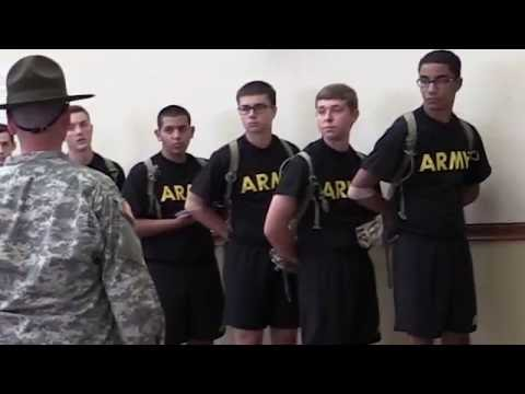 First Day of Army Basic Training