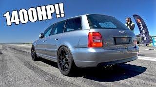 1400HP Audi S4 B5 Biturbo TTD 311Km/h Brutal Accelerations!