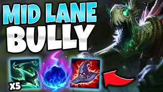 BECOME THE BULLY OF MID LANE | FULL AP MIDDLESTICKS IS HIDDEN OP - League of Legends