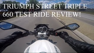 triumph street triple 660 test ride review with some reactions