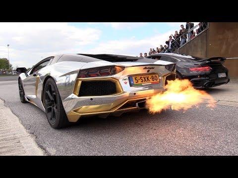 Lamborghini Aventador LP700-4 SPITTING FLAMES!