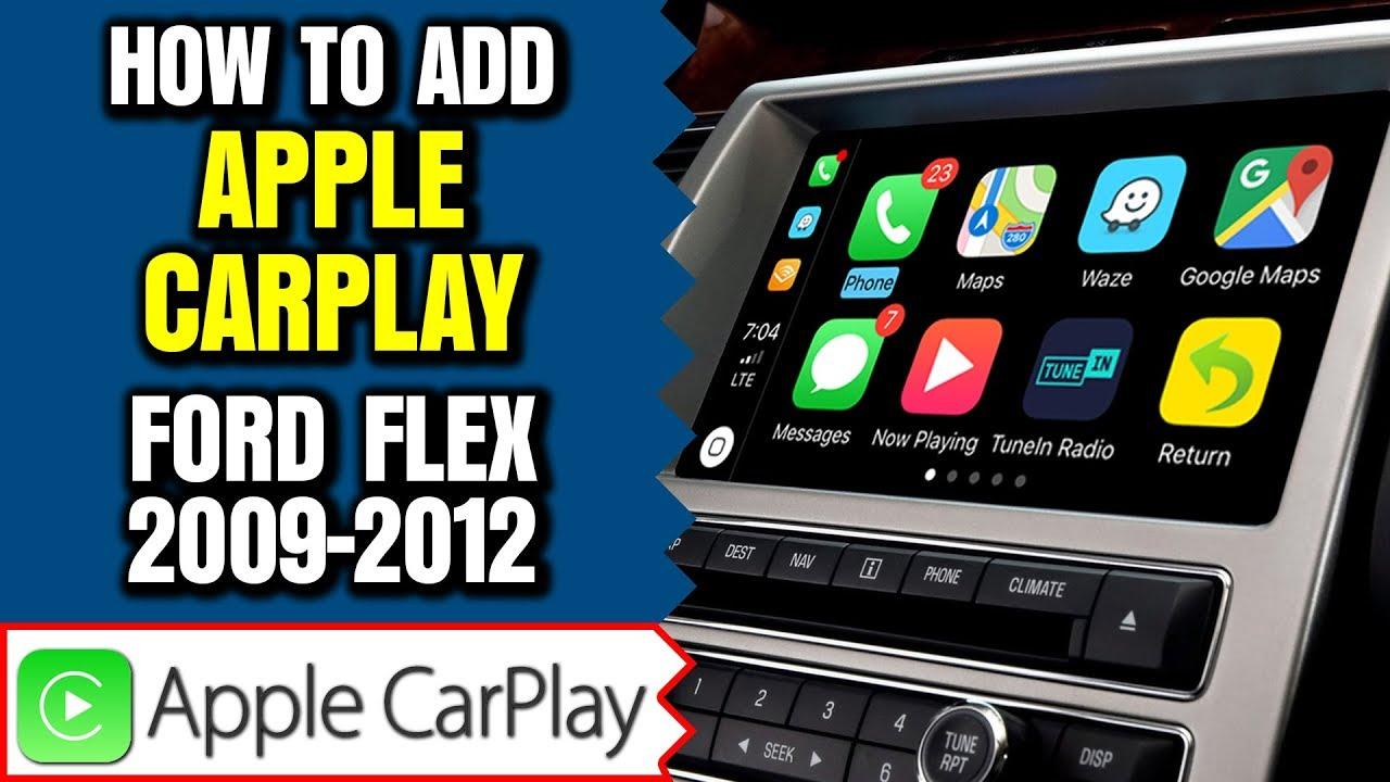 Ford FLEX Apple CarPlay Android Auto 2009-2012 Ford FLEX Sync Navigation  HDMI Camera Mirroring Waze