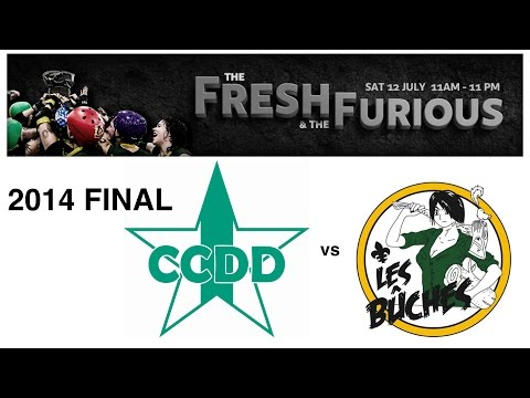 GTAR The Fresh The Furious 2014 Championship Finals CCDD Canon Dolls vs Les Bûches Roller Derby