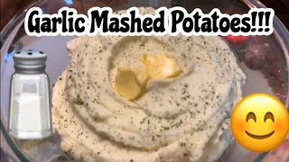 Creamy Fluffy Garlic  mashed potatoes  perfect for the holidays