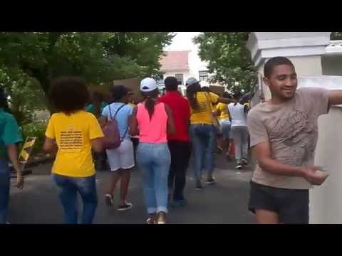 Protesting at CPUT Wellington Campus: Coming into the residence