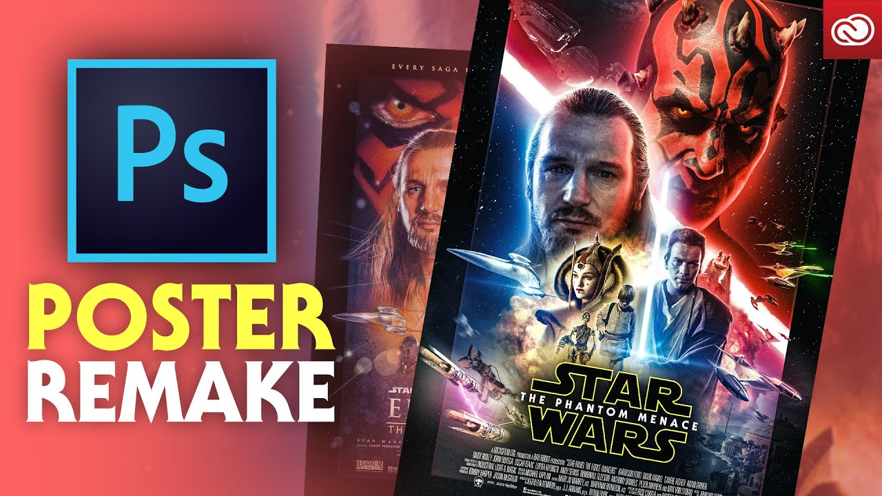How I Remade The Phantom Menace Poster Photoshop Youtube
