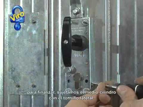 Cerradura acorazable para puertas basculantes youtube - Mecanismo para reloj de pared ...