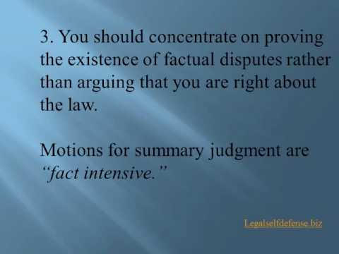 9 Tips For Defeating A Motion For Summary Judgment
